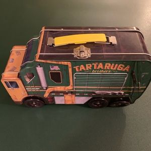 TMNT Trash Truck Tin Lunch Box